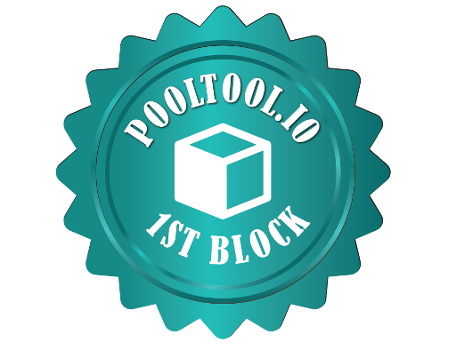 AnFra's PoolTool.io first block award